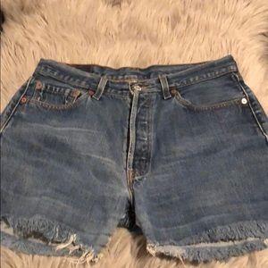 Vintage 501 Levi's Distressed cut off shorts